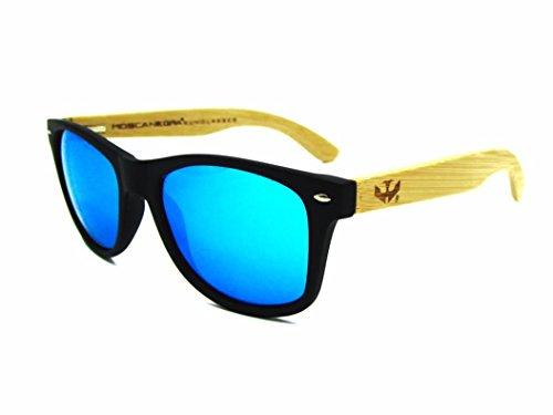 madera Gafas wood and NEGRA BLUE de MOSCA modelo sunglasses MIX BLACK SOLID ICE r5qrSaxw