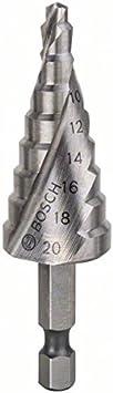 Bosch 2608597526 Fraise /Ã/©tag/Ã/©e queue 3 pans Longueur 70,5 mm Ex/Ã/©cution HSS-TIN
