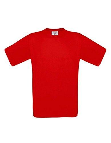 T-Shirt Exact 190 Basics Rundhals Shirt viele Farben B&C S-XXL XXL,SunsetOrange