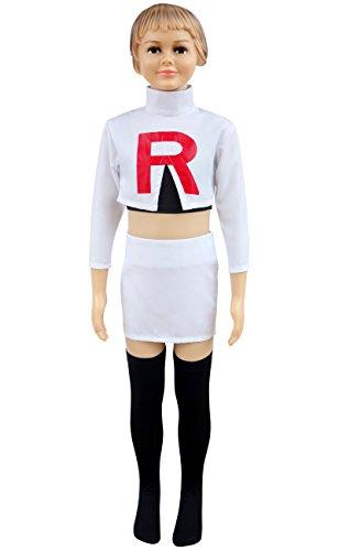 DAZCOS Girls Kids Size Team Rocket Jesse Printed