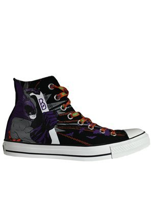 690e47bbe2df Converse All Star Hi DC Comics The Joker vs Batman Black Purple Shoe 132439  (