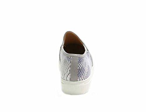 Justglam Gomma Donna Ons Grigio Platform Sneakers Slip Pitonato Effetto Ecopelle Scarpe In r4qv5r