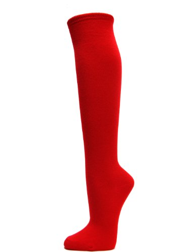Velma Costume (Couver Fashion/Casual Knee High Cotton Socks (1 Pair) (RED))