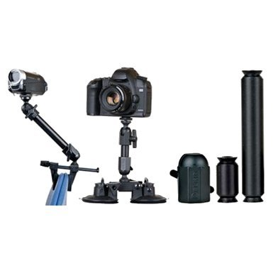 Delkin Devices Fat Gecko Extension Kit - for Dual Suction / Gator Camera Mounts & (Copilot Kit)
