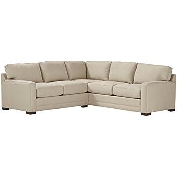 "Stone & Beam Dalton Transitional Sectional Sofa, 98.5""W, Sand"