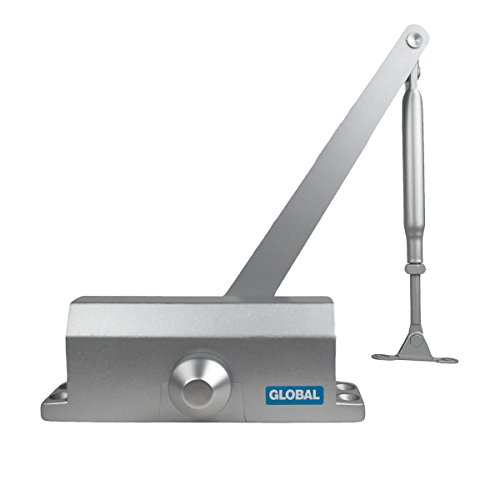Global Door Controls Residential/Light Duty Commercial Door Closer with Parallel Arm Bracket in Aluminum - Size ()