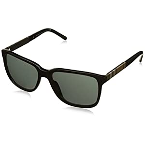 Burberry BE4181 3001/87 Black BE4181 Square Sunglasses Lens Category 3 Size 58m