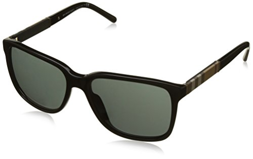 Burberry BE4181 3001/87 Black BE4181 Square Sunglasses Lens Category 3 Size - Burberry Men
