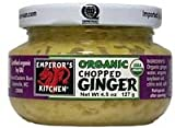 Emperors Kitchen Organic Chopped Ginger, 4.5 Ounce - 12 per case.