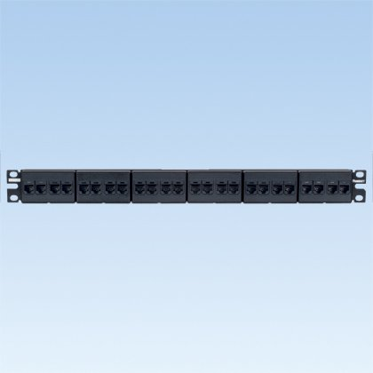 24PT CAT6 PATCH PANEL 24 PRE INST RJ45 (Inst Panel)