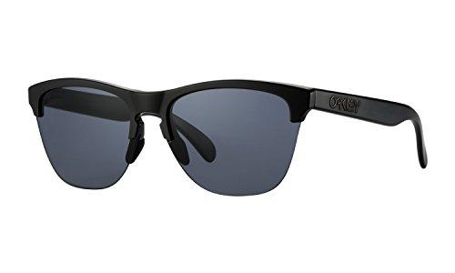 Oakley Frogskins Lite Sunglasses Matte Black with Grey Lens + Sticker (Oakleys Frogskin)