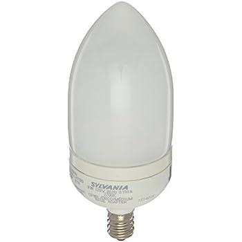 Sylvania 25986 9-Watt Compact Fluorescent B10 Light, 2 Pack
