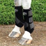Professionals Choice Equine Sports Medicine Boot Value Pack, Set of 4 (Medium, Black)