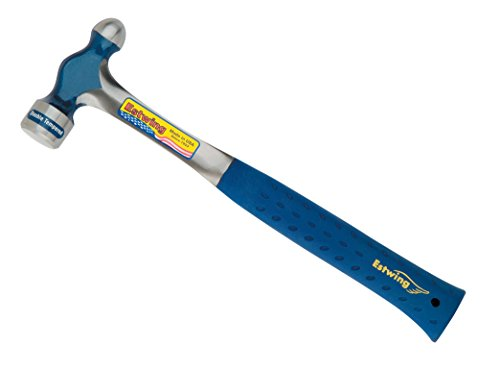 Estwing Ball Peen Hammer - 32 oz Metalworking Tool with Forged Steel Construction & Shock Reduction Grip - E3-32BP 32 Steel Ball