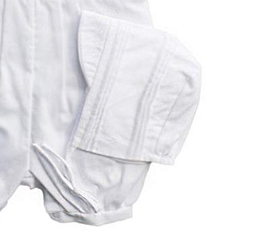 Baby Boys Rompers Pique Christening Baptism Knickers and Hat (12 Months) White by Baby Jett Setters (Image #3)