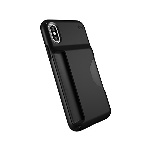Speck Products Compatible Phone Case for Apple iPhone Xs and iPhone X, Presidio Wallet Case, Black/Black