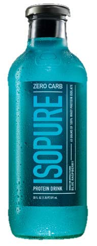 Nature's Best Isopure Ready-to-Drink, Blue Raspberry (Zero Carb), 20-Ounce/12-Case
