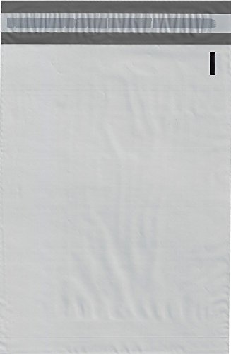 100 12x15.5 WHITE POLY MAILERS ENVELOPES BAGS 12 x 15.5