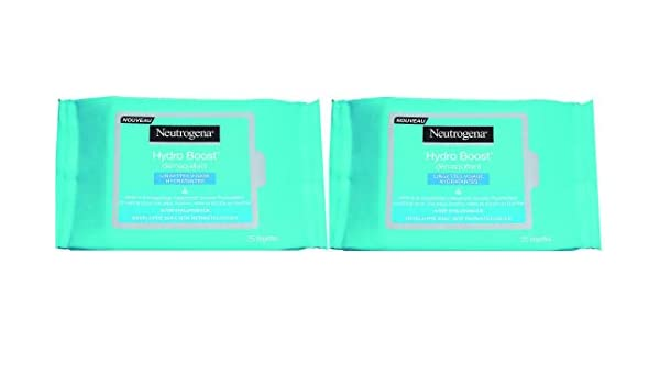 Neutrogena Hydro Boost Set de 25 toallitas hidratantes desmaquillantes para cara - Juego de 2: Amazon.es: Belleza