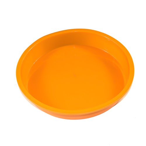 IC ICLOVER Non-Stick food Grade Silicone Bakeware Baking Pan Round Cake Mold Bread Mould Round Cake Pan - Orange,10 inch