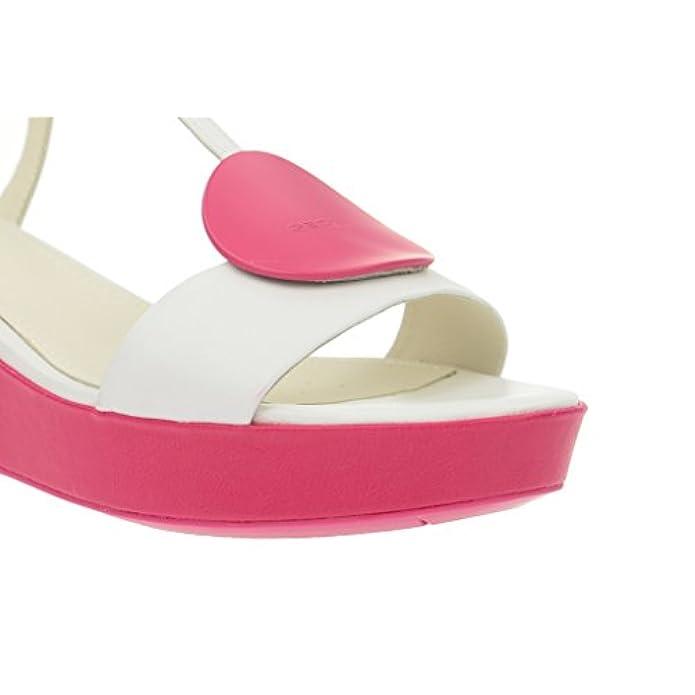 Geox Nouvelle - Damen Sandalette Weiß Pink Sandali Donna