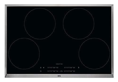 AEG 949597313 hobs (eléctrico/empotrable)/6 elementos calefactores/76.6 cm/maxisense/Hob² Hood de función/Negro