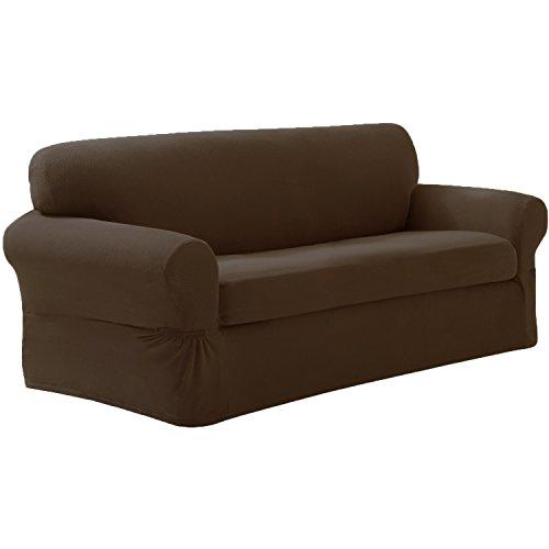 Fancy Collection Strech Sofa Love Seat Arm Chair Slip Cover Mocha Brown (3 piece set)