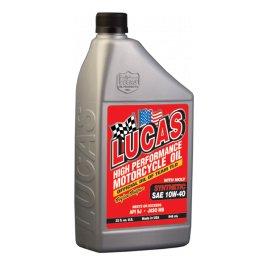 SAE aceite moto 10W 40 síntesis con MOLY Lucas Oil 1 L: Amazon.es: Coche y moto