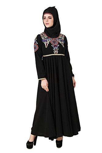 491 MyBatua muslimisch AY schwarz burqa abaya eid islamisch traditionell maxi rrz5Rqnw