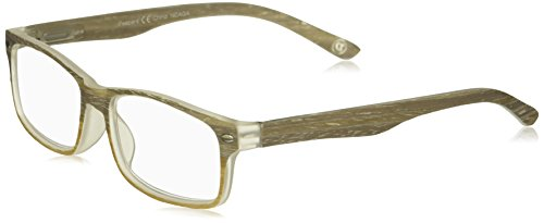 Peepers Men's The Journeyman 2334150 Rectangular Reading Glasses, Gray/Tan, - Mens Glasses Cheater
