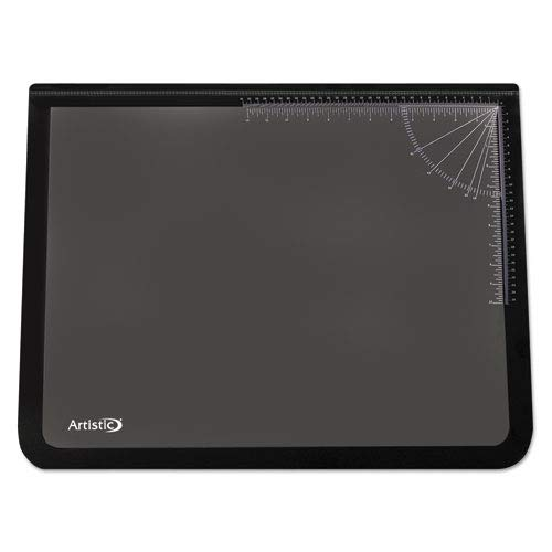Logo Pad Desk (Logo Pad Desktop Organizer with Clear Overlay, 31 x 20, Black, Sold as 1 Each)
