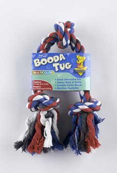 Knot 3 Rope Booda (Booda 3-Knot Rope Tug Multi-Color Medium)