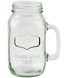 38oz Quart Size Mason Jar Mug With Silver Lids [Case Of 24]