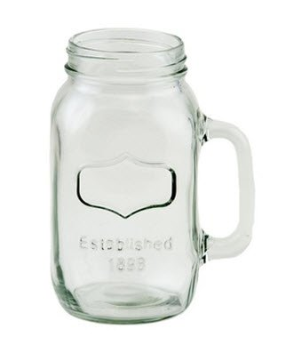 38oz Quart Size Mason Jar Mug with Silver Lids [Case of 24] by FC (Image #2)