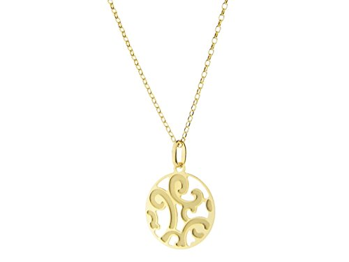 Fronay Co Estruscan Golden Swirls Disc Necklace in Sterling - In Macy's The Galleria