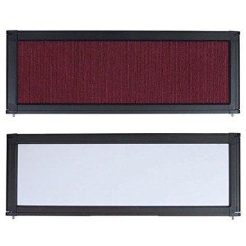 NEW LEAF Tabletop Folding Panel Display Board Header Burgundy by New Leaf