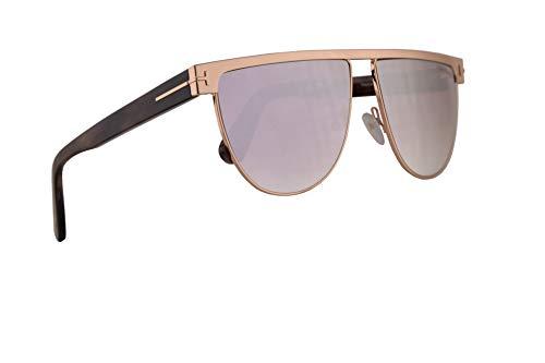 (Tom Ford FT0570 Stephanie-02 Sunglasses Shiny Rose Gold w/Smoke Lens 60mm 28Z FT570 TF 570 TF570)