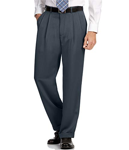 Perry Ellis Men's Classic Fit Elastic Waist Double Pleated Cuffed Pant, Twilight, 30x30 (Macys Online-shop)