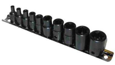 10-pc. Female Star Socket Set by Cal Hawk