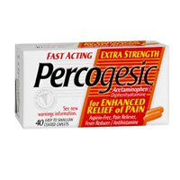 (Percogesic Percogesic Fast Acting Extra Strength Pain Relief Caplets, 40 caplets (Pack of 3))