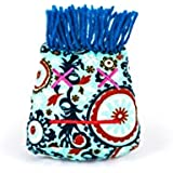 Dammit Doll - Stress Head - Mademoiselle Inquiéter - Aqua & Rust Print, Blue Hair - Stress Relief - Gag Gift
