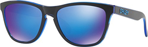 Oakley Men's Frogskins Non-Polarized Iridium Square Sunglasses, Eclipse Blue, 55 - Sunglasses Blue Oakley