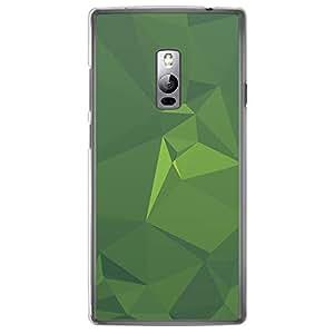 Loud Universe OnePlus 2 Geometrical Printing Files A Geo 43 Printed Transparent Edge Case - Green