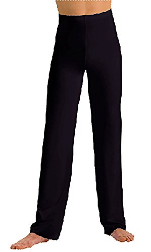 Motionwear Men's Jazz Elastic Waist Pants S Black - Mens Jazz Pants