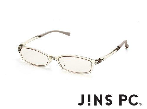 【JINS PC スクエア ハイコントラストレンズ】PC(ディスプレイ)専用メガネ (度なし) (CLEAR)
