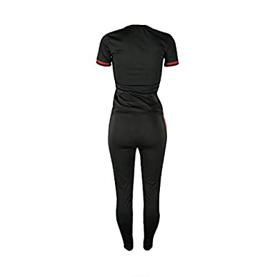 DINGANG Women 2 Pieces Outfits Short Sleeve Top and Long Pants Sweatsuits Set Tracksuits at Women's Clothing store