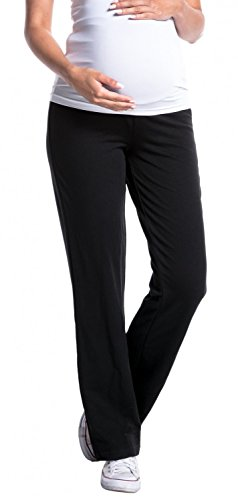 Zeta Ville -Damen Pantalone prémaman. Disponibile in 3 Lunghezze di Gamba – 691c Premaman