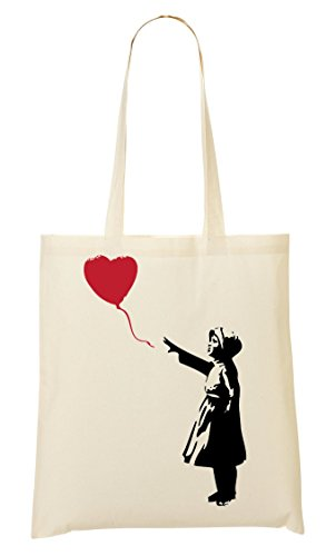 Toteworld Fourre tout Banksy Flying Slogan Sac À Red Fashioned Provisions Baloon Bomb rrwHq