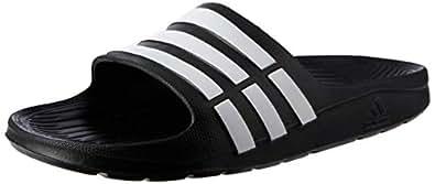 adidas Girls' Duramo Slide Shoes, Black/Running White Footwear/Black, 1 US (1 AU)