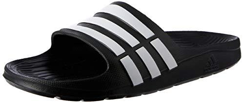 adidas Performance Kids' Duramo Slide Sandal (Toddler/Little Kid/Big Kid),Black/Running White/Black,6 M US Big Kid (Under Armour Slide Sandals Youth)